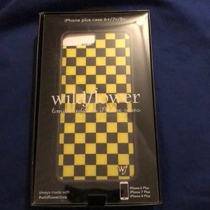 Wildflower Yellow checkered iPhone 6/7/8 Plus Case